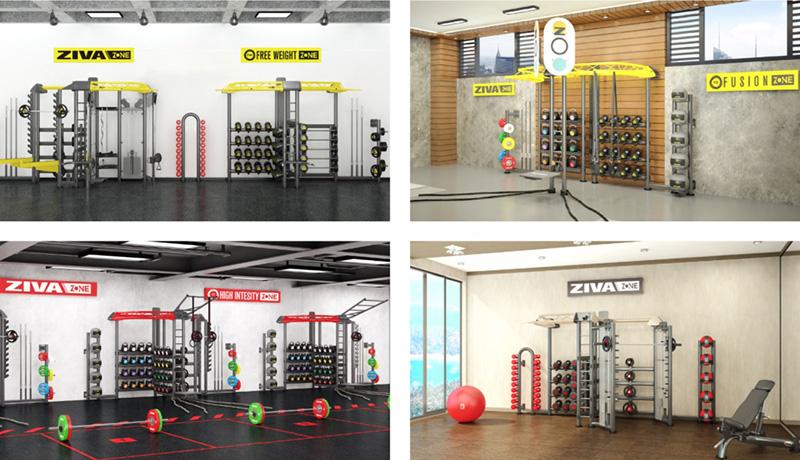 sistem perete accesorii fitness-Ziva